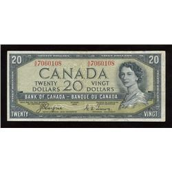 Bank of Canada $20, 1954 - Devil's Face Variety