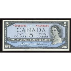 Bank of Canada $5, 1954 Replacement Note