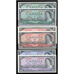 Bank of Canada - Lot of 6 Notes