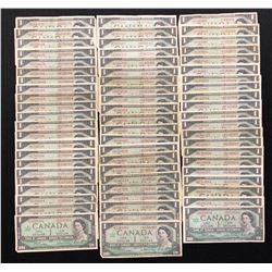 Bank of Canada $1, 1967 - Lot of 65 Replacement Notes