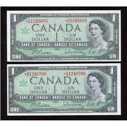 Bank of Canada $1, 1967 - Lot of 2 Replacement Notes