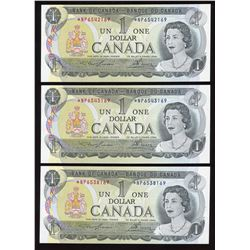 Bank of Canada $1, 1973 - Lot of 3 Replacement Notes