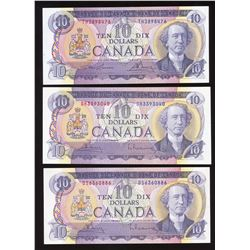 Bank of Canada $10, 1971 - Lot of 3