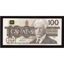 Bank of Canada $100, 1988 Offset Printing Error
