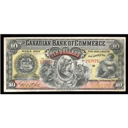 Canadian Bank of Commerce $10. Jan. 2nd, 1901