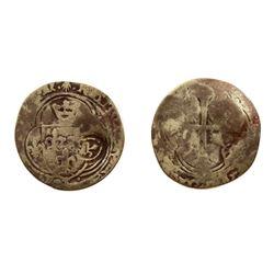 1640 countermark on a Charles VIII Grand Blanc a la Soleil, Ciani 803, Duplessy 584