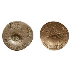1640 countermark on a 1550-F [Angers Mint] Henri II Douzain aux Croissants, Ciani 1305, Duplessy 997