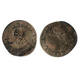 1640 countermark on a 1552-R [Sainte-Andre de Villeneuve-les-Avignon Mint] Henri II Douzain aux Croi