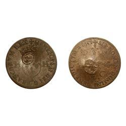 1640 countermark on a 1553-A [Paris Mint] Henri II Douzain aux Deux H, Ciani 1312, Duplessy 999, Som