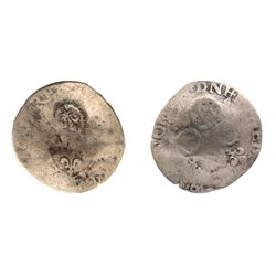 1640 countermark on a 1569-N [Montpellier Mint] Charles IX Sol Parisis of the 1st type, Ciani 1379,