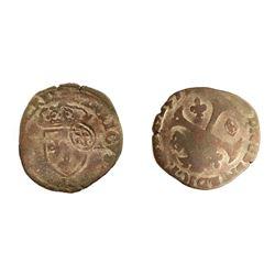 1640 countermark on a 1587-R [Sainte-Andre de Villeneuve-les-Avignon Mint] Henri III Douzain aux Deu