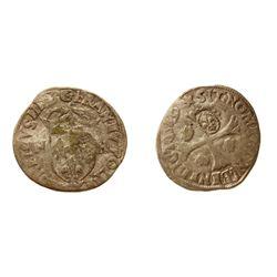 1640 countermark on a 1589-Q [Narbonne Mint] Henri III Douzain aux Deux H, 1st type, Ciani 1450, Dup