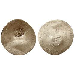 1640 countermark on a 1578-G [Poitiers Mint] Henri III Sol Parisis a la Croisette Fleurdelisee, Cian