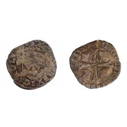 1640 countermark on a 1593-S [Troyes Mint] Charles X Douzain aux Deux C, 1st type, Ciani 1491, Duple