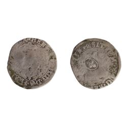 1640 countermark on a 1593 key [Le Lauzet Mint] Henri IV Douzain aux Deux H, 5th type, Ciani Unliste