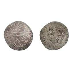 1640 countermark on a 1593-K [Bordeaux Mint] Henri IV Douzain aux Deux H Couronnes, 1st type, Ciani
