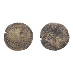 "1640 countermark on a 1594 ""&"" [Aix-en-Provence] Henri IV Douzain of a COMPLETELY UNLISTED TYPE in C"