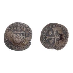 1640 countermark on a 1601 Star [Chambery Mint] Henri IV Douzain aux Deux H, 1st type.  Ciani Unlist