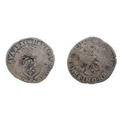 1640 countermark on a 1957-& [Limoges Mint] Henri IV Douzain aux Deux H, 2nd type.  Ciani 1563, Dupl