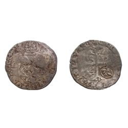 1640 countermark on a 1601 [Avignon Mint] Papal Douzain of Clement VIII, Berman 1518