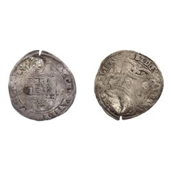 1640 countermark on a 1615 Spanish Patard of Albert & Isabel for Brabant (Spanish Netherlands).
