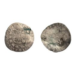 1640 countermark on a 1598-1621 Spanish Netherlands 5 Patards of Albert & Isabel for Brabant, likely