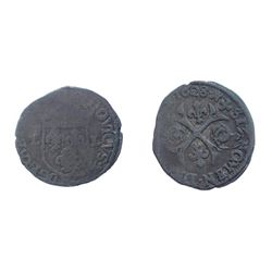 1640 countermark on a 1628 [Nimes Mint] Douzain of Louis XIII