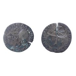 1640 countermark on 1589 [Treboux Mint] Dombes Douzain of Francois II de Bourbon-Montpensier, Divo D