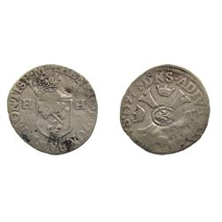 1640 countermark on 1597 [Treboux Mint] Dombes Douzain of Henri II de Bourbon-Montpensier, Divo Domb