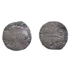 1640 countermark on 1600 [Trevoux Mint] Dombes Douzain of Henri II de Bourbon-Montpensier, Divo Domb