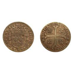 1658-A [Paris Mint] Pattern Douzain, piedfort, struck in Silver, Ciani 1976, Duplessy 1579, Gadoury