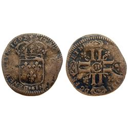 1692-H [La Rochelle Mint] Recoined Sol de 15 Deniers, Gadoury 93.