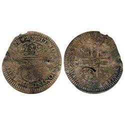 1692-P [Dijon Mint] Recoined Sol de 15 Deniers, Gadoury 93.