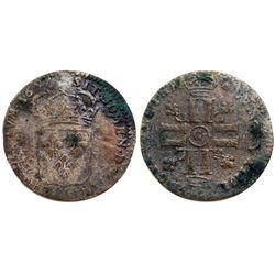 1693-G [Poitiers Mint] Sol de 15 Deniers, Gadoury 91.