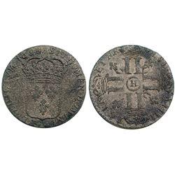 1693-H [La Rochelle Mint] Sol de 15 Deniers, Gadoury 91.