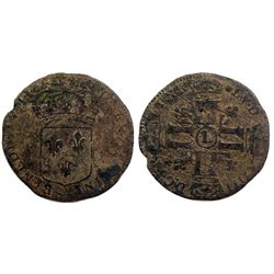 1693-L [Bayonne Mint] Sol de 15 Deniers, Gadoury 91.