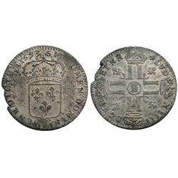 1693-Crowned M [Metz Mint] Sol de 15 Deniers, Gadoury 91.
