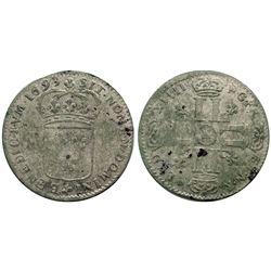 1693-N [Montpellier Mint] Sol de 15 Deniers, Gadoury 91.