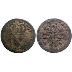 1693-O [Riom Mint] Sol de 15 Deniers, Gadoury 91.