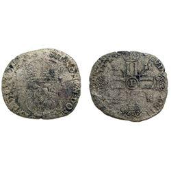 1693-P [Dijon Mint] Recoined Sol de 15 Deniers, Gadoury 91.