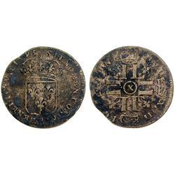 1693-X [Amiens Mint] Sol de 15 Deniers, Gadoury 91.