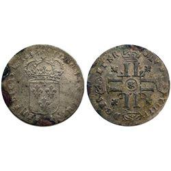 """1693-""""&"""" [Aix Mint] Sol de 15 Deniers, Gadoury 91."""