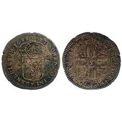 """1693-""""9"""" [Rennes Mint] Sol de 15 Deniers, Gadoury 93."""