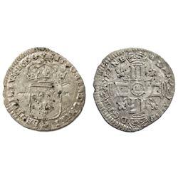 1694-E [Tours Mint] Recoined Sol de 15 Deniers, Gadoury 91.