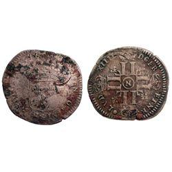 1694-N [Montpellier Mint] Recoined Sol de 15 Deniers, Gadoury 93.