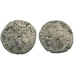 1695-E [Tours Mint] Recoined Sol de 15 Deniers, Gadoury 91.