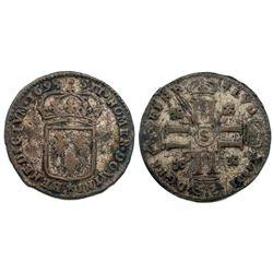1695-S [Reims Mint] Sol de 15 Deniers, Gadoury 91.