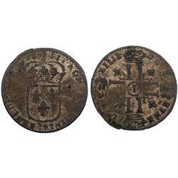 1696-I [Limoges Mint] Sol de 15 Deniers, Gadoury 91.