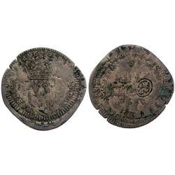 1696-M [Toulouse Mint] Recoined Sol de 15 Deniers, Gadoury 93.