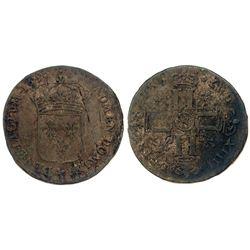 1696-N [Montpellier Mint] Sol de 15 Deniers, Gadoury 91.